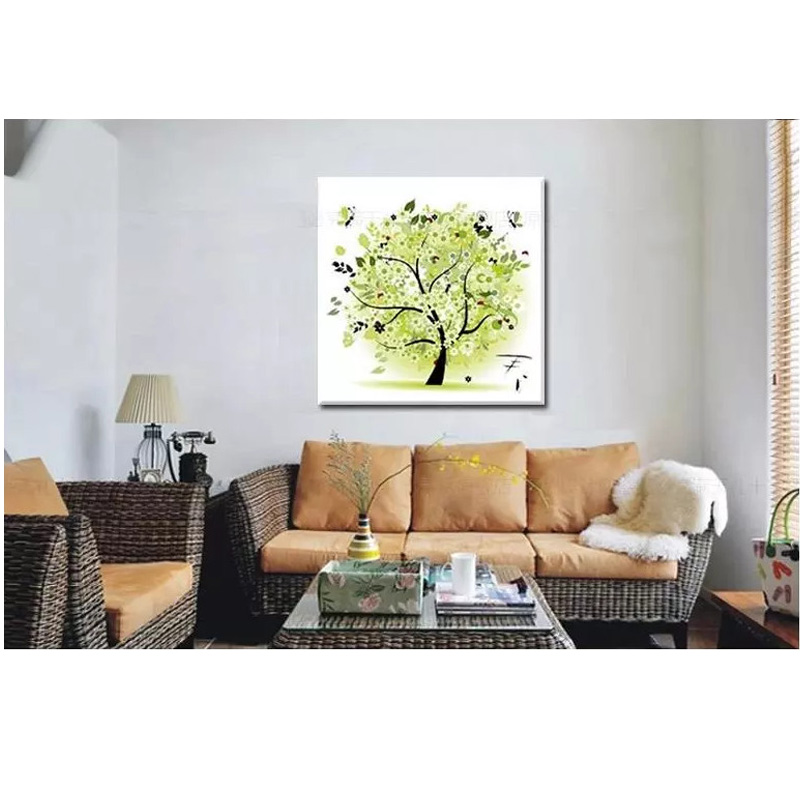 Four season home decor tree counted cross stitch kit for 4 season decoration
