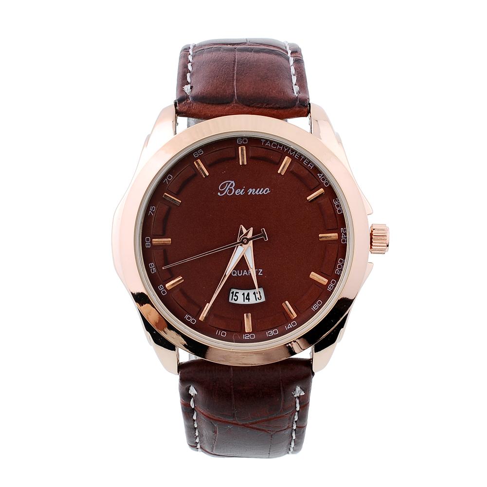 s stainless leather quartz wrist designer