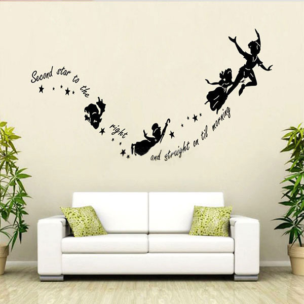 Tinkerbell Star Peter Pan Diy Wall Stickers Decal Kids
