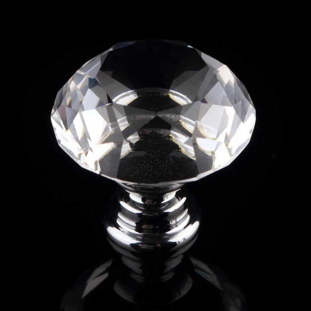 10 tlg kristall glas m belkn pfe m belgriffe m belknauf t r schrank griff knopf. Black Bedroom Furniture Sets. Home Design Ideas