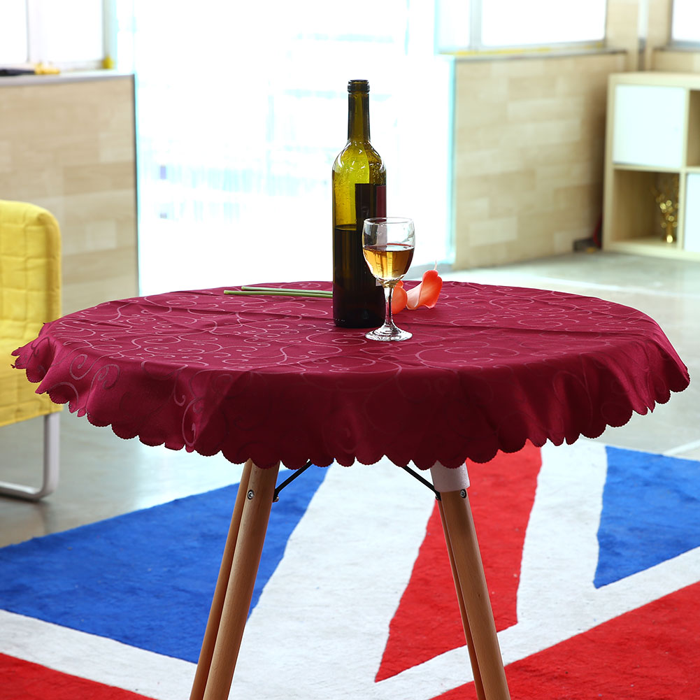 1m Round Tablecloth Table Cover Cloth Elegant Flower
