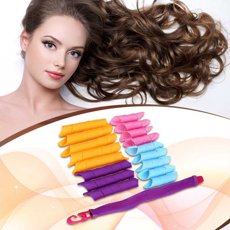 Hair Curlers Rollers Stretchy Plastic Snail Hair Curler