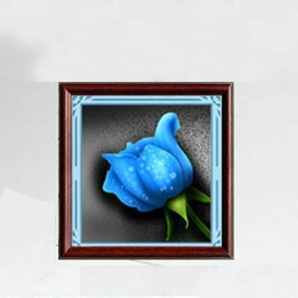 Artificial Diamonds Rose Painting Cross Stitch Mosaic Kits