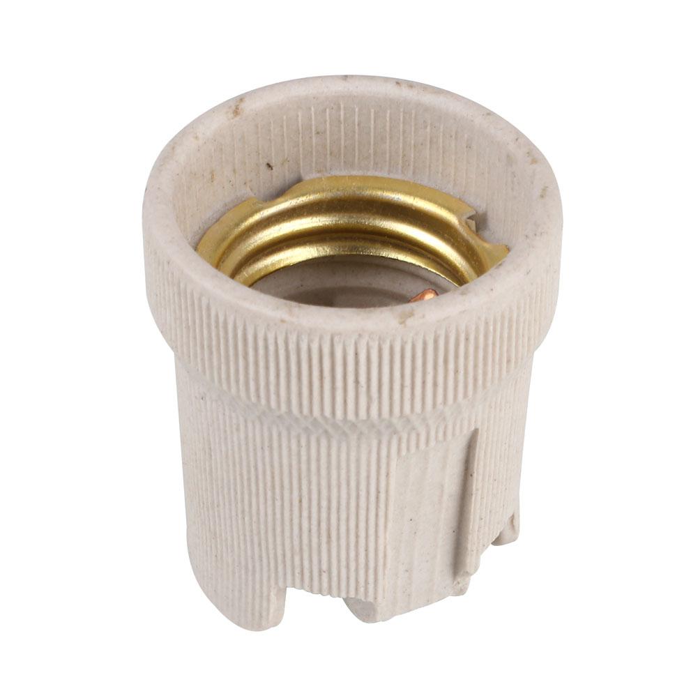Screw E27 Ceramic Porcelain Socket Bulb Holder For Heat