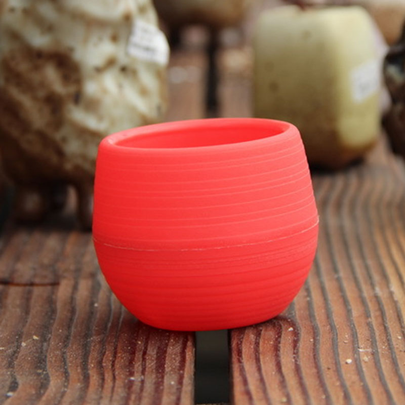 Plastic-Resin-Round-Garden-Office-Desk-Home-Decor-Planter-Plant-Flower-Pot