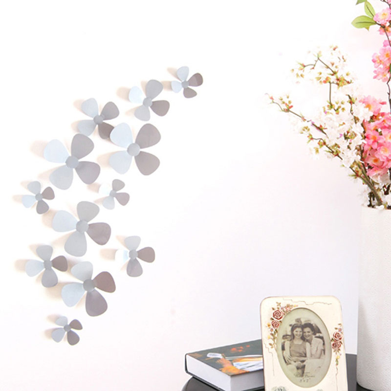 3d removable flower mural wall stickers decals livingroom for Bedroom 3d wall stickers