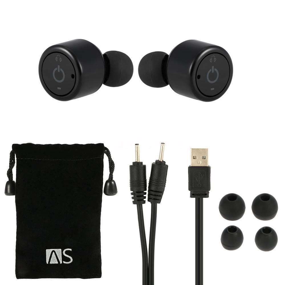 mini true wireless bluetooth twins stereo in ear headset earphone earbuds ebay. Black Bedroom Furniture Sets. Home Design Ideas