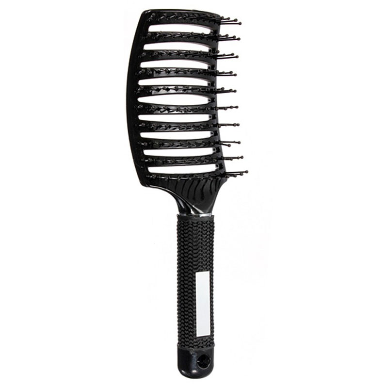 Anti-Static Curved Vent Barber Salon Hair Rows Comb Brush ...