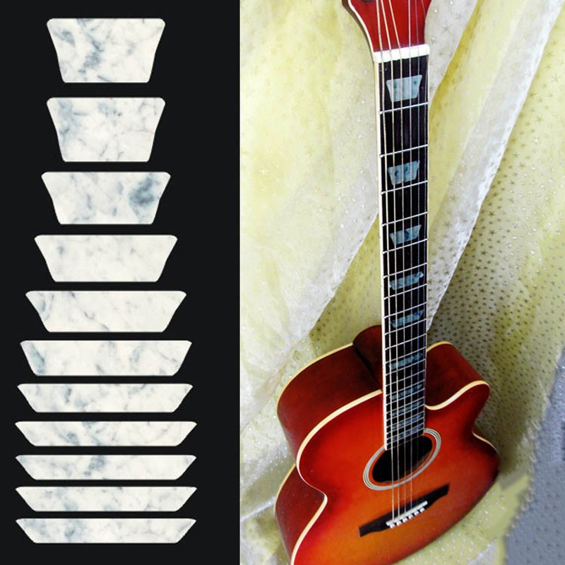 Acoustic guitar bass inlay sticker fretboard frets decal for Acoustic guitar decoration ideas