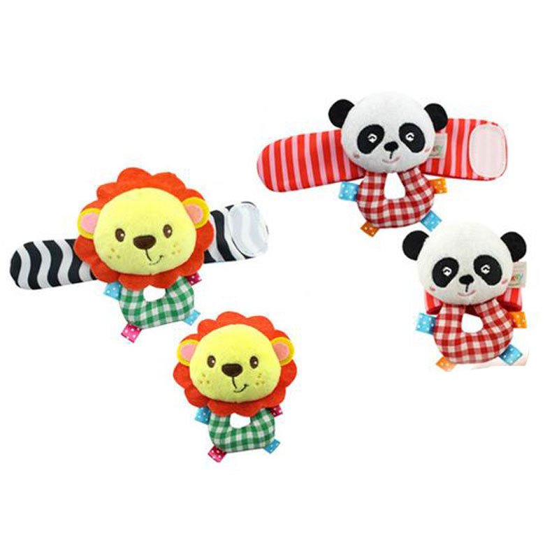 Soft Toys Cartoon : Cartoon designed sock bracelet rattles bell ring soft toy