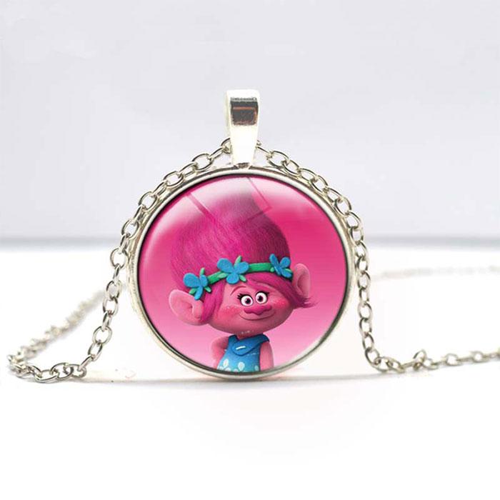 Trolls Poppy Gemstone Pendant Necklace Jewelry Gift For ...