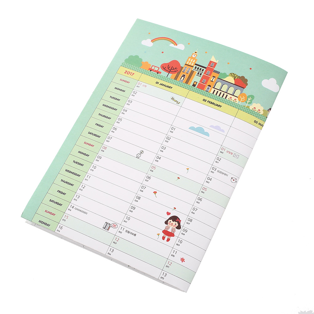 Hanging Planner Calendar : Practical calendar office planner schedule paper