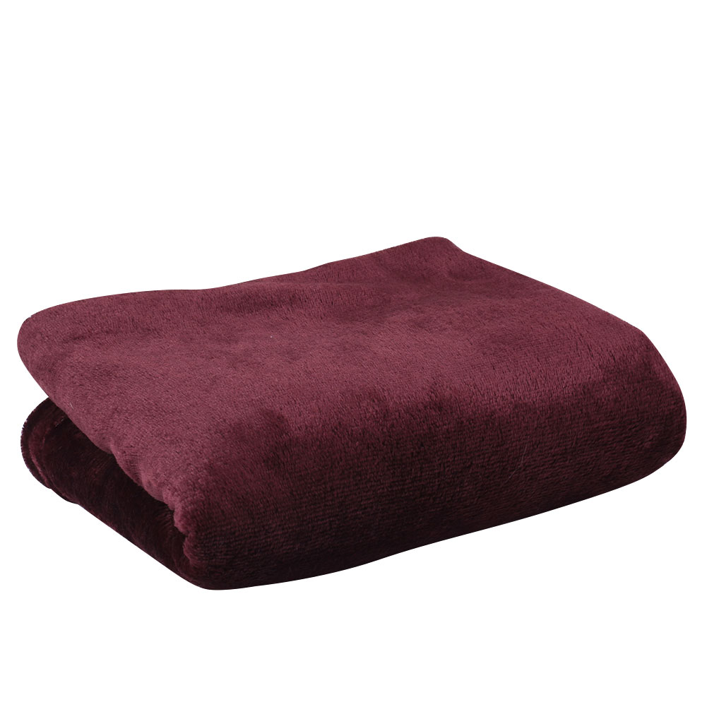Super soft coral fleece throw luxury warm comfy sofa baby for Soft blankets and throws