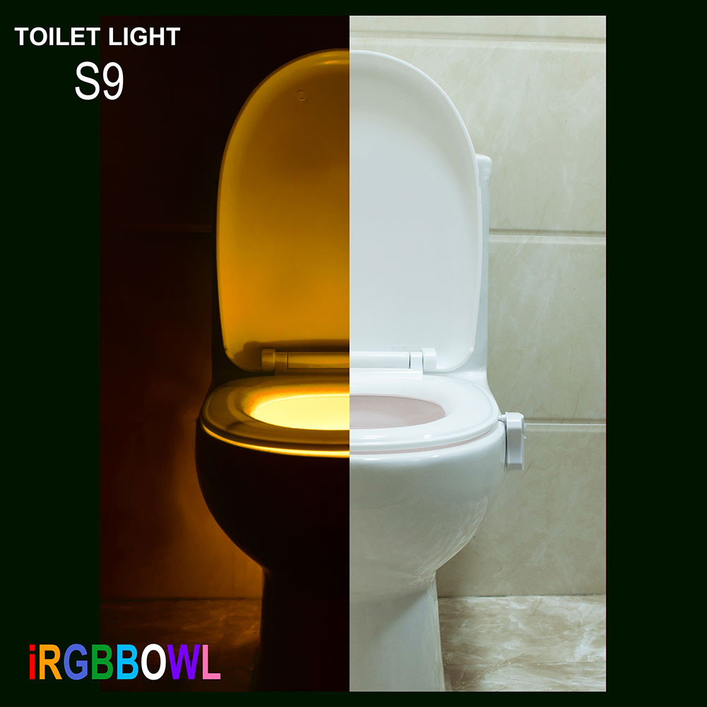 9 colors led toilet bathroom night light motion activated for Bathroom night light
