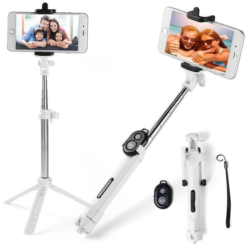 203F-2017-Selfie-Stick-Bluetooth-Tripod-Controller-Shutter-for-Phone-Fashion
