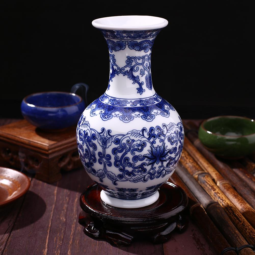 FEEF-Vintage-Home-Decor-Ceramic-Vases-Antique-Blue-And-White-Porcelain-C-Pattern
