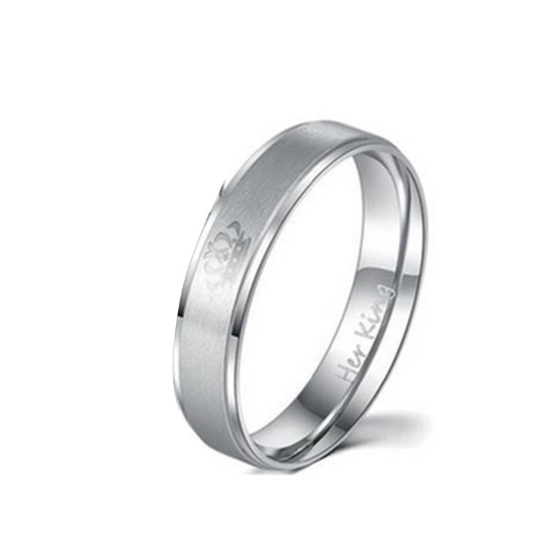 C46B-Lover-039-s-Crown-Design-Stainless-Steel-Ring-King-Promise-Beauty-Accessory