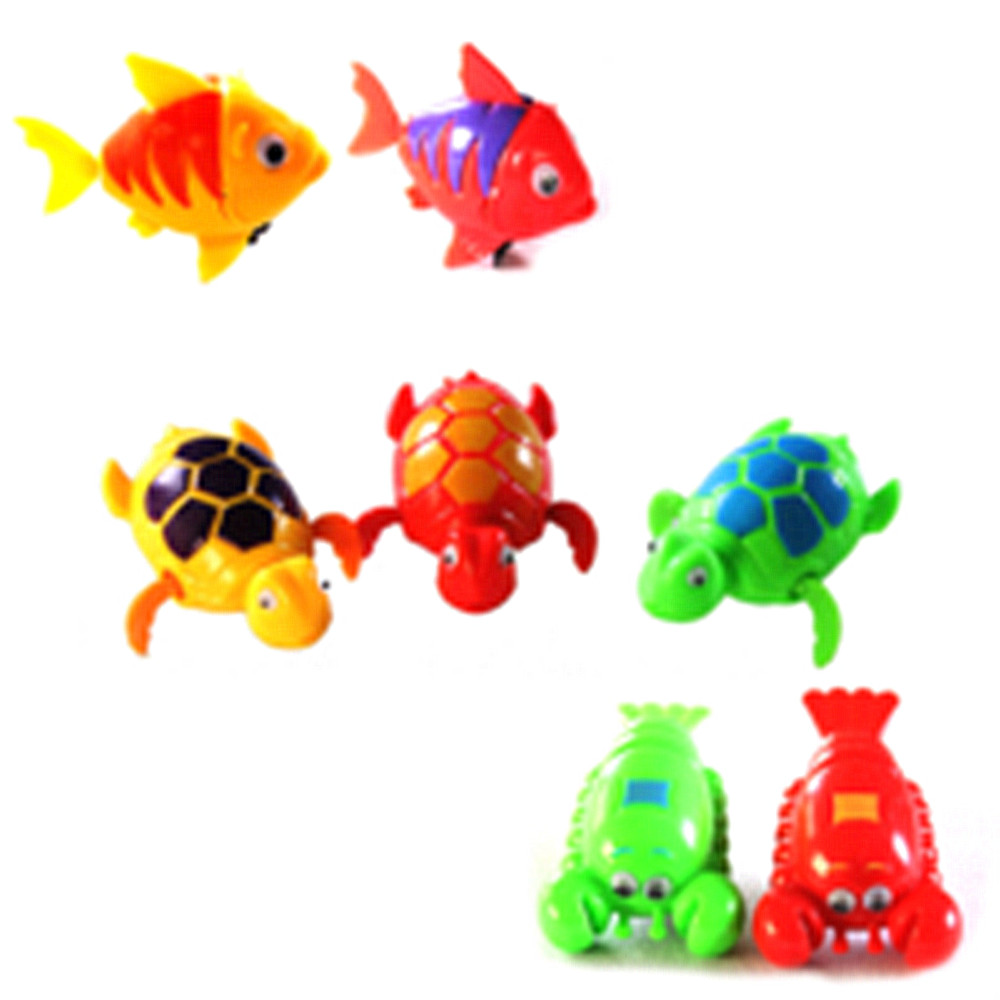 8470 Cute Funny Wind-up Clockwork Toys Animals Swimming Pool Tub for ...