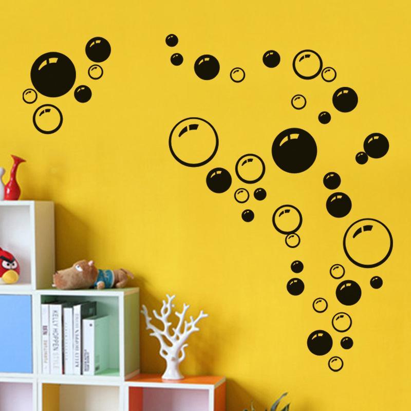 DC93-Bubbles-Wall-Art-Bathroom-Window-Decoration-Car-Sticker-Colorful-Pattern