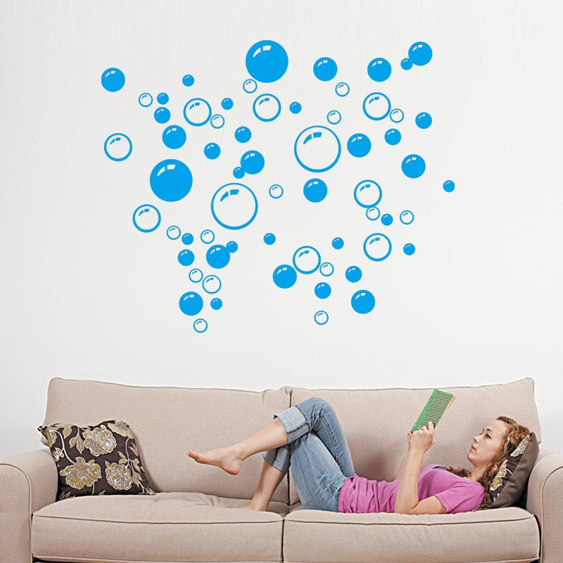 DC93-Bubbles-Wall-Art-Bathroom-Window-Decoration-Car-Sticker-Colorful-Pattern