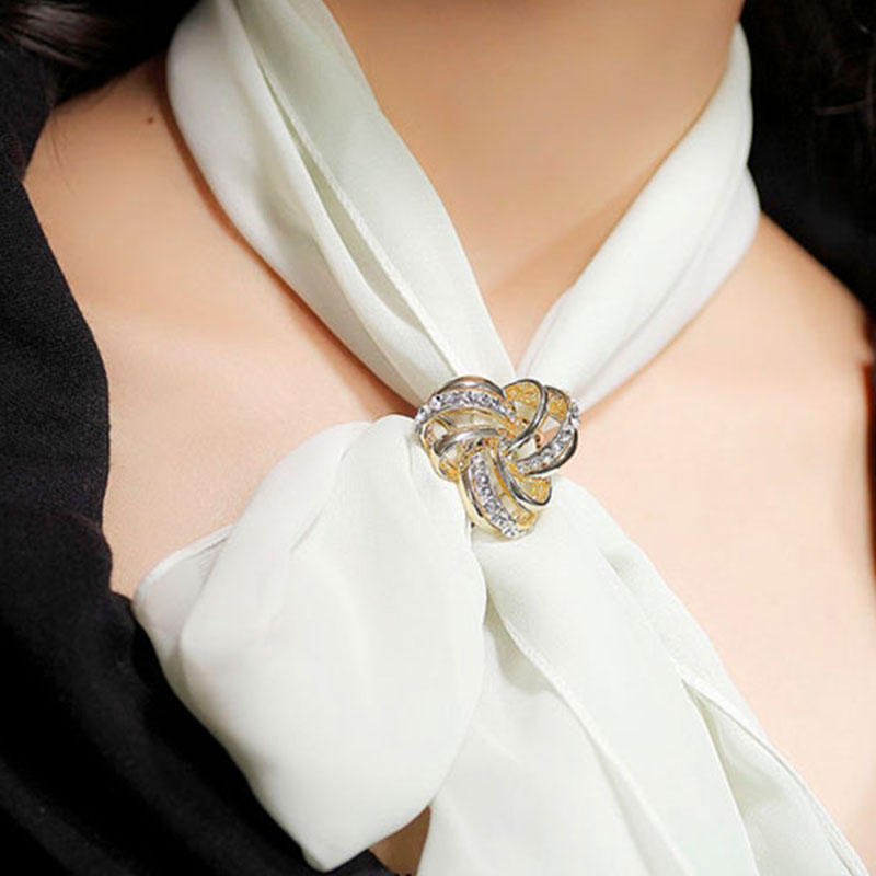 4BE0-Crystal-Silver-Silk-Scarf-Holder-Clip-Buckle-Twine-Gift-For-Women-Lady