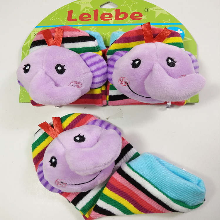 E5AF-1Pcs-Calm-Baby-KidS-Infant-Newborn-Antislip-Plush-Animal-Bell-Socks-Toy