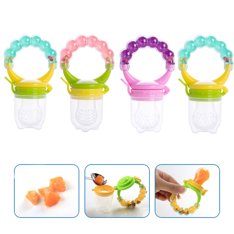 BC92-Random-Baby-Nipple-Food-Soft-Feeder-Silicone-Pacifier-Feeding-Tool-Teether