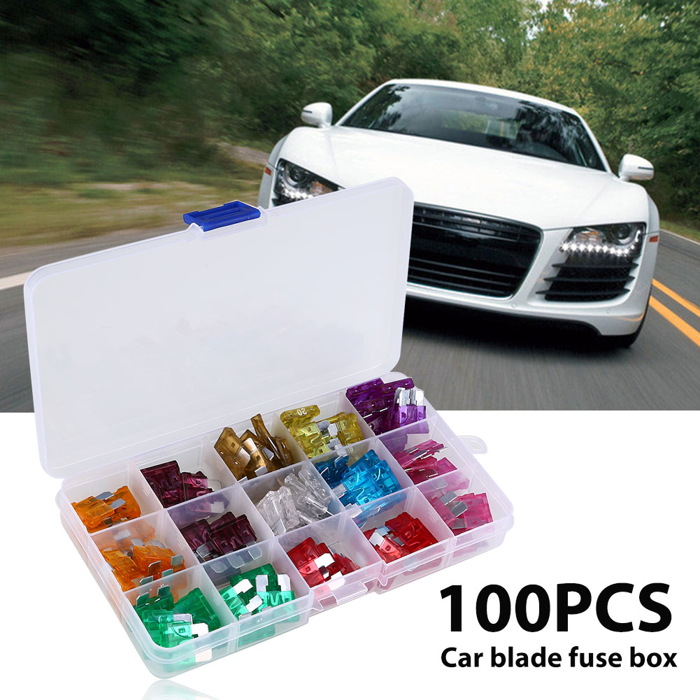 100pcs Mini Assorted Universal General Auto Caravan Truck Suv Blade Fuse Box
