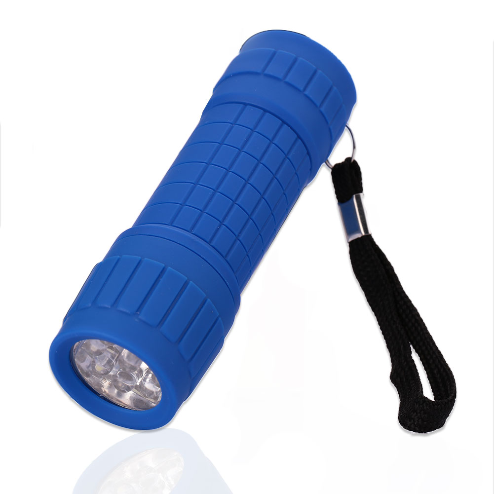 673F-9-LED-Bright-Flashlight-Small-Torch-Outdoor-Travel-Camping-Hiking-Rubber