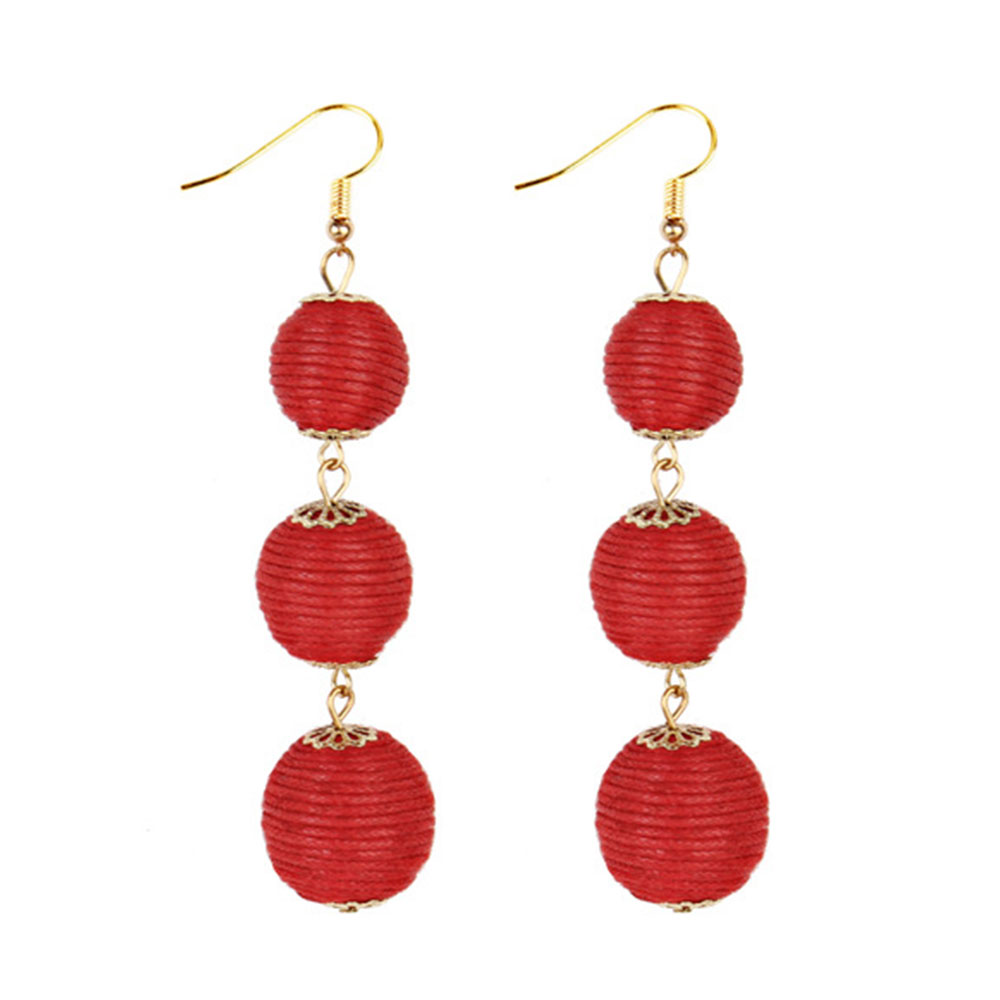 A266-Ball-Tassel-Earrings-Long-Ear-Stud-Hoop-Dangle-Bridal-Party-Jewelry-Access